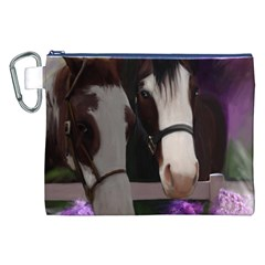 Two Horses Canvas Cosmetic Bag (xxl) by JulianneOsoske