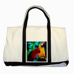 Two Friends Two Toned Tote Bag by JulianneOsoskeFeathers