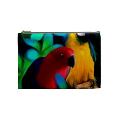 Two Friends Cosmetic Bag (medium) by JulianneOsoskeFeathers
