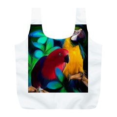 Two Friends Reusable Bag (l) by JulianneOsoskeFeathers