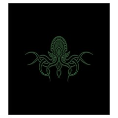 Cthulhu Bag By Dean   Drawstring Pouch (large)   69ti8ce0kxlh   Www Artscow Com Front