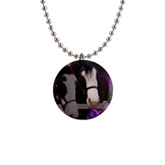 Two Horses Button Necklace by JulianneOsoske