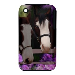 Two Horses Apple Iphone 3g/3gs Hardshell Case (pc+silicone) by JulianneOsoske