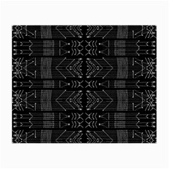 Black And White Tribal  Glasses Cloth (small, Two Sided) by dflcprints