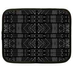 Black And White Tribal  Netbook Sleeve (xxl) by dflcprints