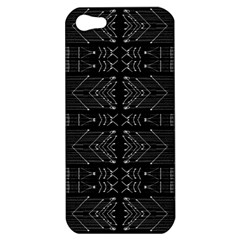 Black And White Tribal  Apple Iphone 5 Hardshell Case by dflcprints
