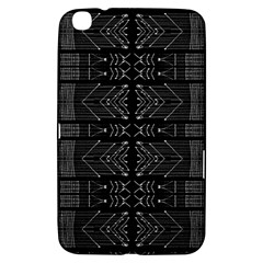 Black And White Tribal  Samsung Galaxy Tab 3 (8 ) T3100 Hardshell Case  by dflcprints
