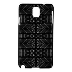 Black And White Tribal  Samsung Galaxy Note 3 N9005 Hardshell Case by dflcprints