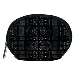Black And White Tribal  Accessory Pouch (medium) by dflcprints