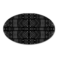 Black And White Tribal  Magnet (oval) by dflcprints