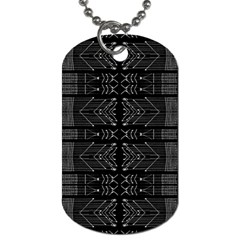 Black And White Tribal  Dog Tag (one Sided) by dflcprints
