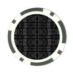 Black And White Tribal  Poker Chip by dflcprints