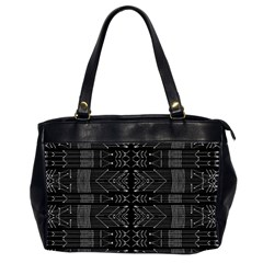 Black And White Tribal  Oversize Office Handbag (two Sides) by dflcprints