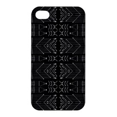 Black And White Tribal  Apple Iphone 4/4s Premium Hardshell Case by dflcprints