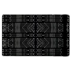 Black And White Tribal  Apple Ipad 2 Flip Case by dflcprints