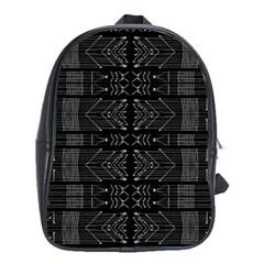 Black And White Tribal  School Bag (xl) by dflcprints