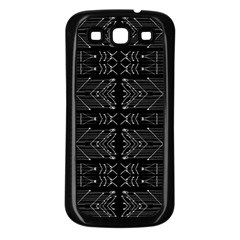 Black And White Tribal  Samsung Galaxy S3 Back Case (black) by dflcprints