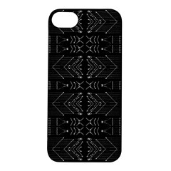 Black And White Tribal  Apple Iphone 5s Hardshell Case by dflcprints