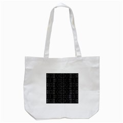 Black And White Tribal  Tote Bag (white) by dflcprints