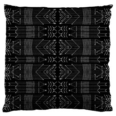 Black And White Tribal  Large Flano Cushion Case (one Side) by dflcprints