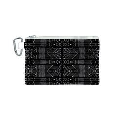 Black And White Tribal  Canvas Cosmetic Bag (small) by dflcprints