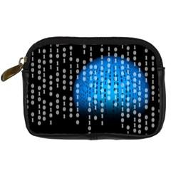 Binary Rain Digital Camera Leather Case by StuffOrSomething
