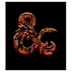 Medium Fire & On Black By Jason Garman   Drawstring Pouch (medium)   Lsl6jo4744px   Www Artscow Com Front