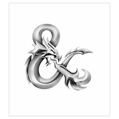 Medium Silver & On White By Jason Garman   Drawstring Pouch (medium)   8pq1ifssy24v   Www Artscow Com Front