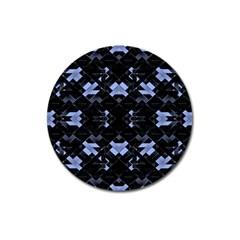 Futuristic Geometric Design Magnet 3  (round) by dflcprints