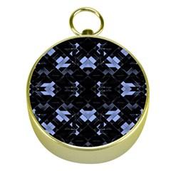 Futuristic Geometric Design Gold Compass by dflcprints