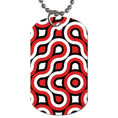 Waves And Circles Dog Tag (one Side) by LalyLauraFLM