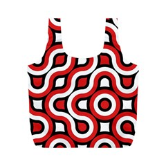 Waves And Circles Full Print Recycle Bag (m) by LalyLauraFLM