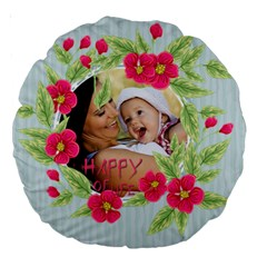 Flower Kids By X   Large 18  Premium Round Cushion    Ltfoqro9wenc   Www Artscow Com Back