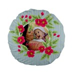 flower kids - Standard 15  Premium Flano Round Cushion