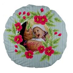 Flower Kids By X   Large 18  Premium Flano Round Cushion    Xgywzf1bbbbm   Www Artscow Com Front