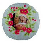 flower kids - Large 18  Premium Flano Round Cushion