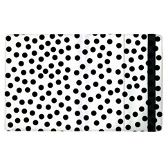 Black Polka Dots Apple Ipad 3/4 Flip Case by Justbyjuliestore