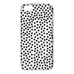 Black Polka Dots Apple Iphone 5c Hardshell Case by Justbyjuliestore