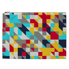Colorful Shapes Cosmetic Bag (xxl) by LalyLauraFLM