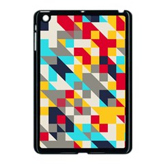 Colorful Shapes Apple Ipad Mini Case (black) by LalyLauraFLM