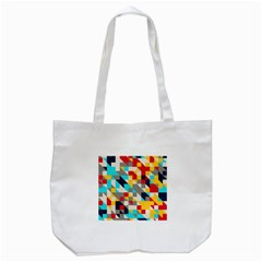 Colorful Shapes Tote Bag (white)