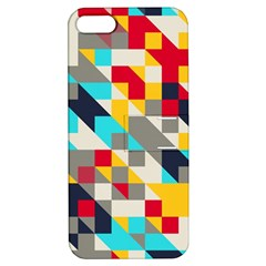 Colorful Shapes Apple Iphone 5 Hardshell Case With Stand by LalyLauraFLM