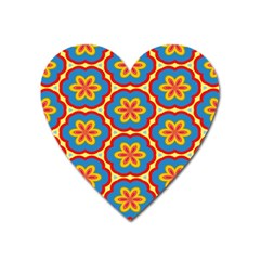 Floral Pattern Magnet (heart) by LalyLauraFLM