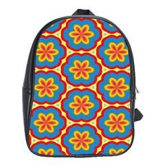 Floral Pattern School Bag (xl) by LalyLauraFLM