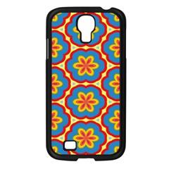 Floral Pattern Samsung Galaxy S4 I9500/ I9505 Case (black) by LalyLauraFLM