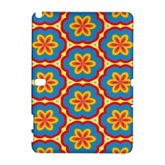 Floral pattern Samsung Galaxy Note 10.1 (P600) Hardshell Case by LalyLauraFLM