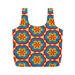 Floral Pattern Full Print Recycle Bag (m) by LalyLauraFLM