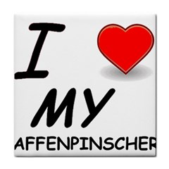 Affen Love Ceramic Tile by TailWags