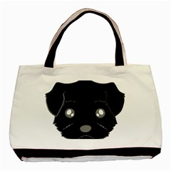 Affenpinscher Cartoon 2 Sided Head Classic Tote Bag by TailWags