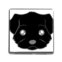 Affenpinscher Cartoon 2 Sided Head Memory Card Reader with Storage (Square) by TailWags